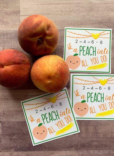 Peach Appreciation Printables.