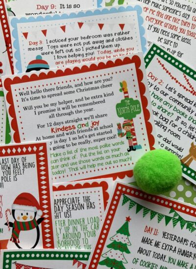 12 Days of Christmas ELF Printables.