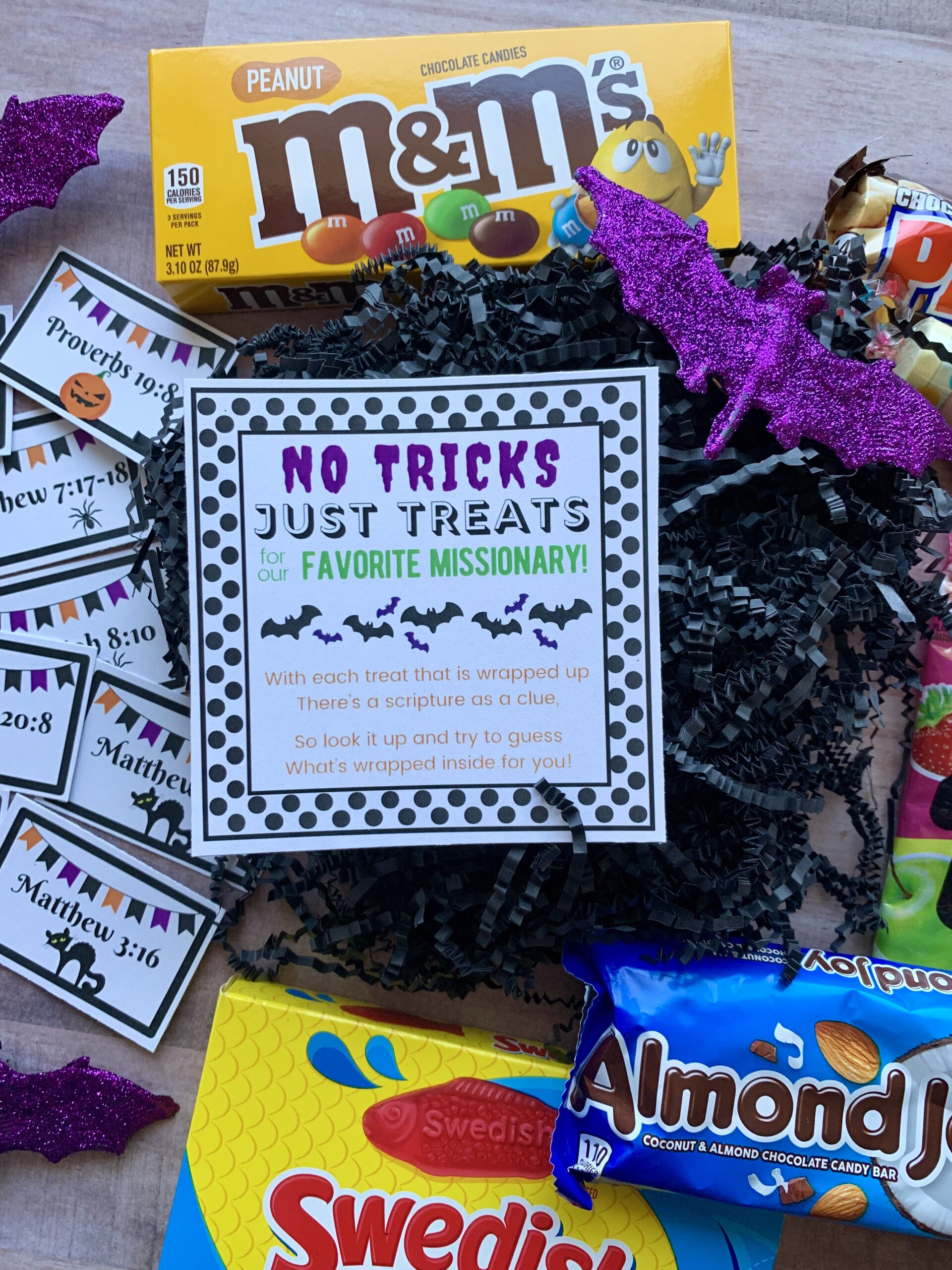 Halloween Scripture Candy Grams for Missionaries